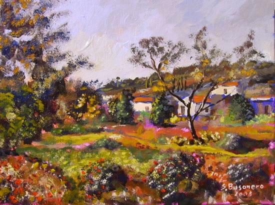 Seconda fase per dipingere il paesaggio ad olio for Quadri semplici