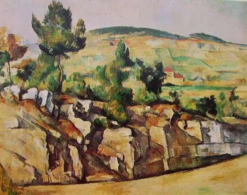 Cezanne-rupi e colli in Provenza