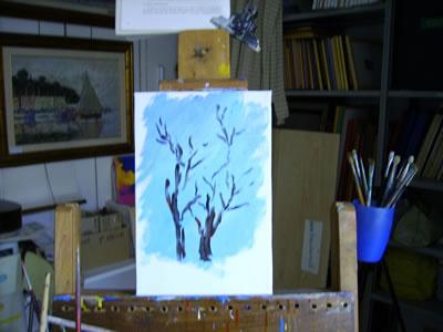 Figura n° 2: abbozzo degli alberi con i rami