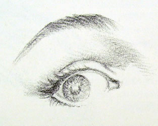 occhio tre quarti