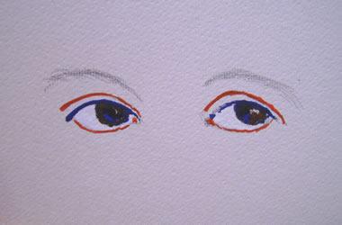 Inizio a dipingere gli occhi