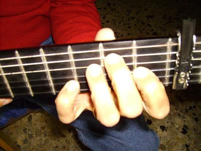 Posizione della mano sinistra