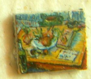 Quadro Microscopico: Natura morta con cipolle