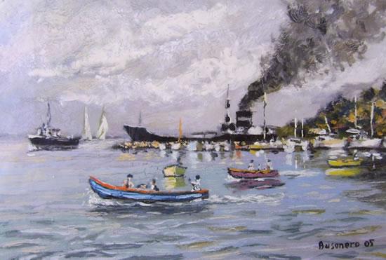 Porto di Porto Santo Stefano: Lo scarico della petroliera e vita di barche