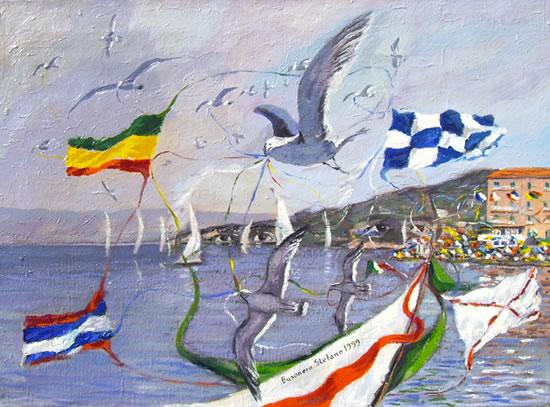 Il logo del palio marinaro dell'Argentario del 1999