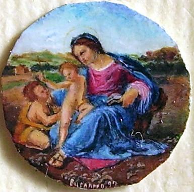 Riproduzione della Madonna d'Alba