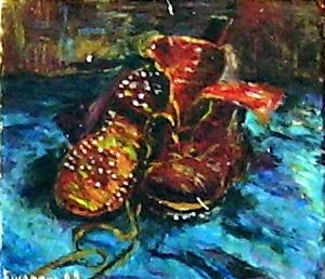 Riproduzione delle scarpe di van Gogh