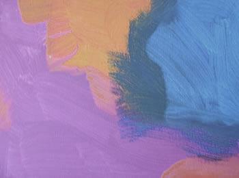 Preparazione della tela con i tre colori base