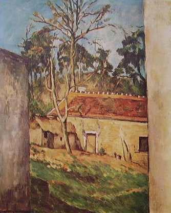 Cezanne-cortile di fattoria