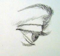 occhio semichiuso profilo