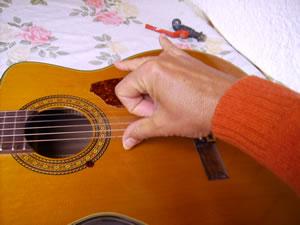 Preparazione delle due dita indice e medio