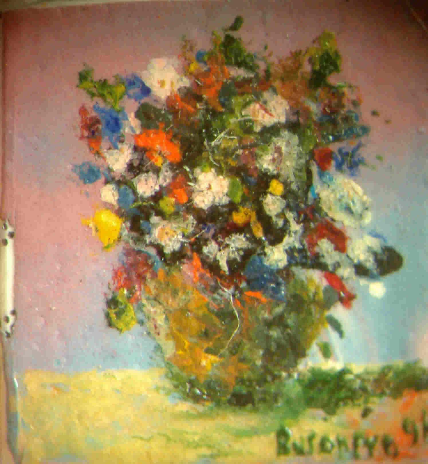 Arte pittorica musica e corso di chitarra di stefano busonero for Quadri fiori olio