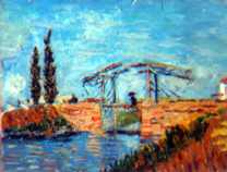 Van Gogh, the Langlois bridge 7,1x9,3 mm
