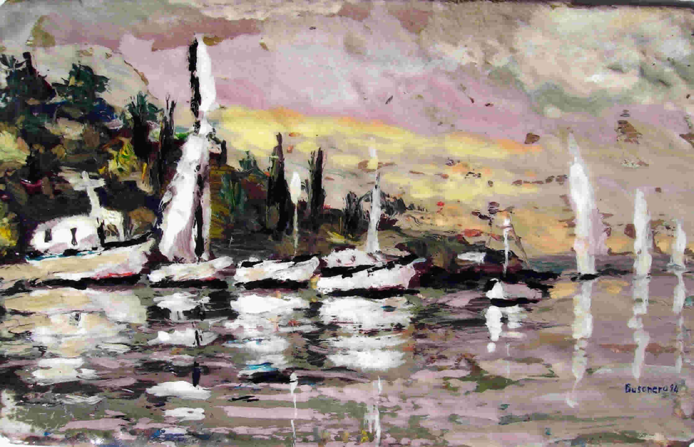 Calore e colore nei dipinti di Busonero