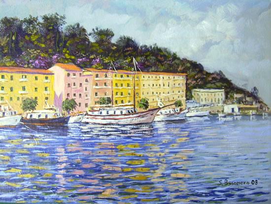 """La Pilarella con le barche """"a banchina"""""""