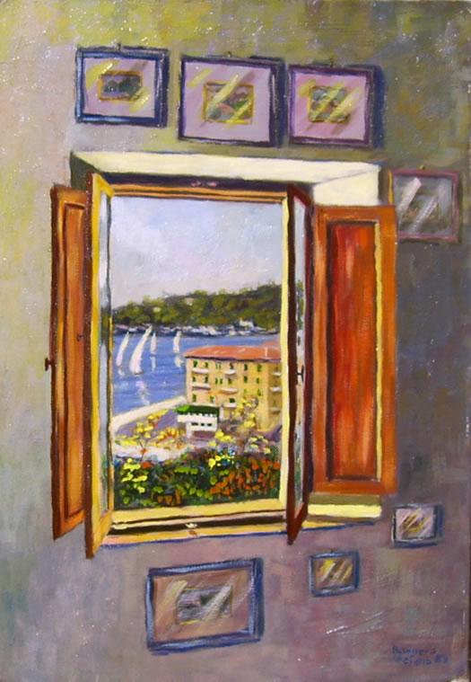 Calore e colore nei dipinti di Busonero: Il mio vecchio atelier