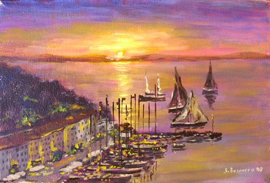 Il filone dei paesaggi marini notturni dipinti da busonero for Quadri belli