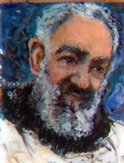 Padre Pio dipinto al microscopio di Busonero